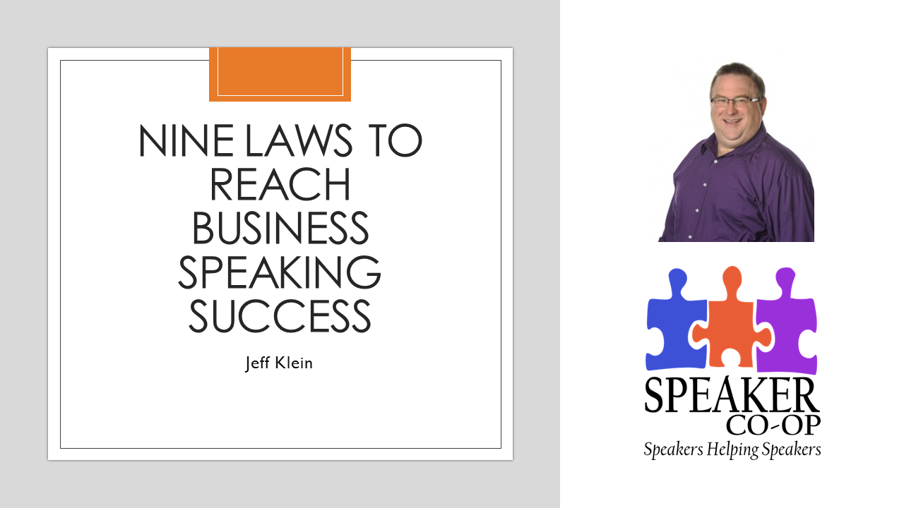 Nine Laws to Reach Business Speaking Success